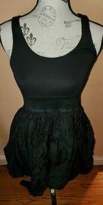 Black dress with puffy bottom
